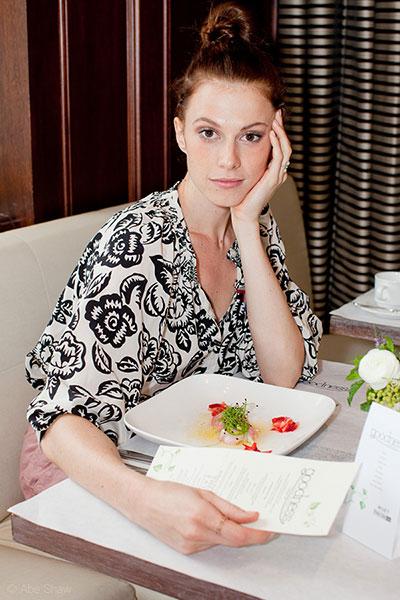 Elettra Weidemann of Impatient Foodie at GOODNESS popup