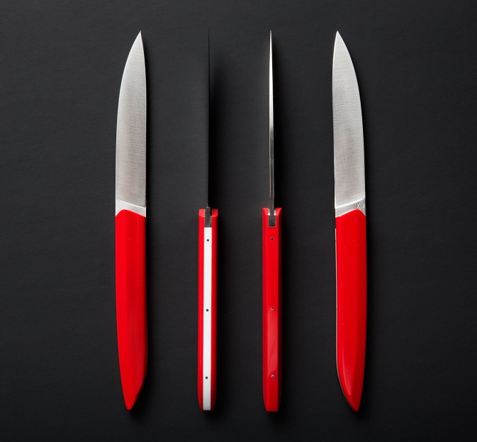 red u0026 white steak knife set