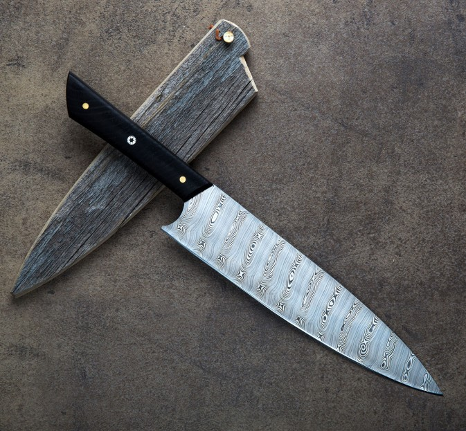 Damasteel & Bog Oak Chef 250mm