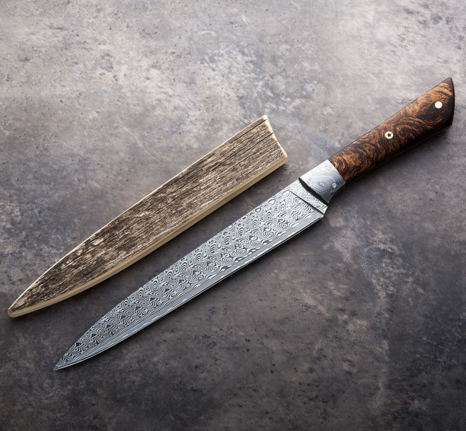 Damasteel & Birch Burl Slicer 185mm