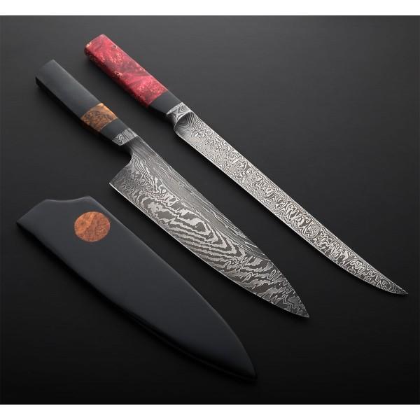 Micarta & Damascus Chef 215mm