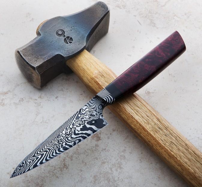 Integral Damascus Paring Knife 115mm