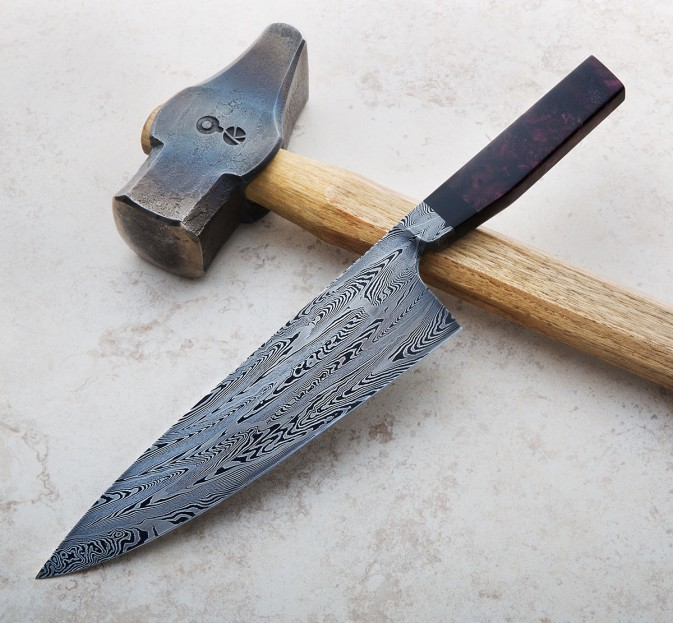 Integral Damascus Chef Knife 195mm