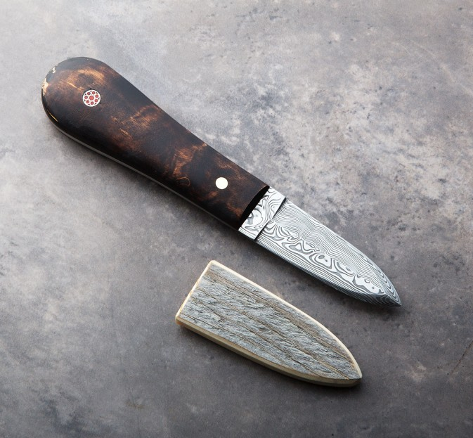 Birch & Damasteel Oyster Knife