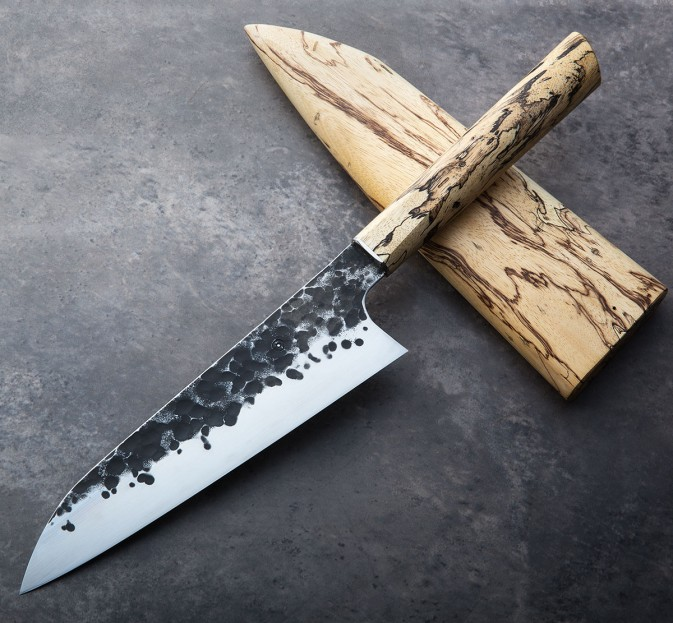 Custom Made Kitchen Knives: Tamarind Forged Chef 200mm