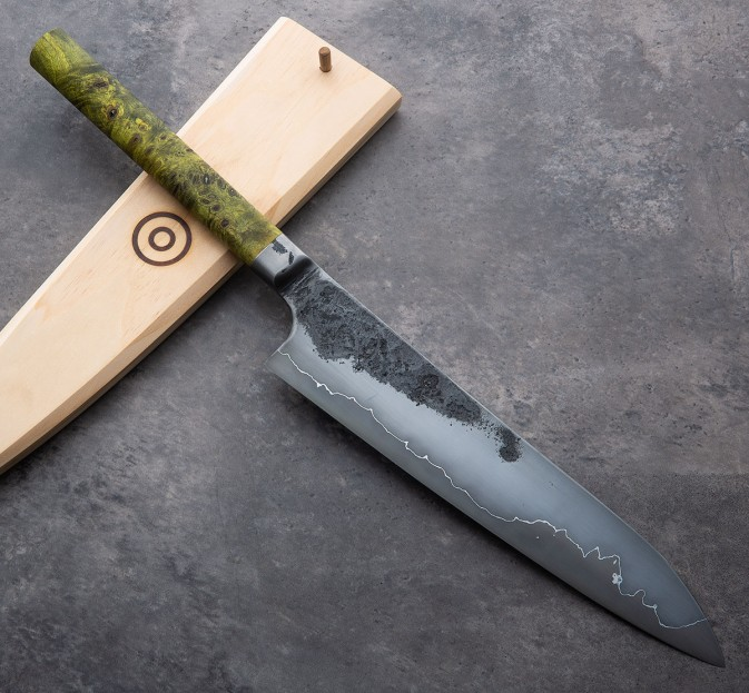 Buckeye Burl Integral Chef 252mm