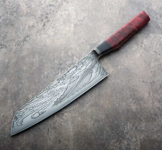 Red Maple Damascus Chef 235mm
