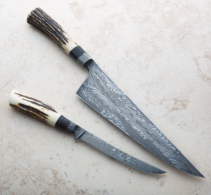 Stag Damascus Chef & Fillet Set