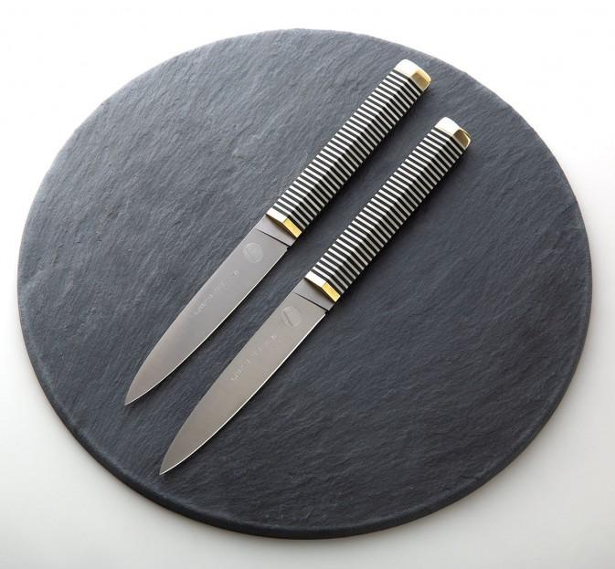 Black & White Steak Knife Pair