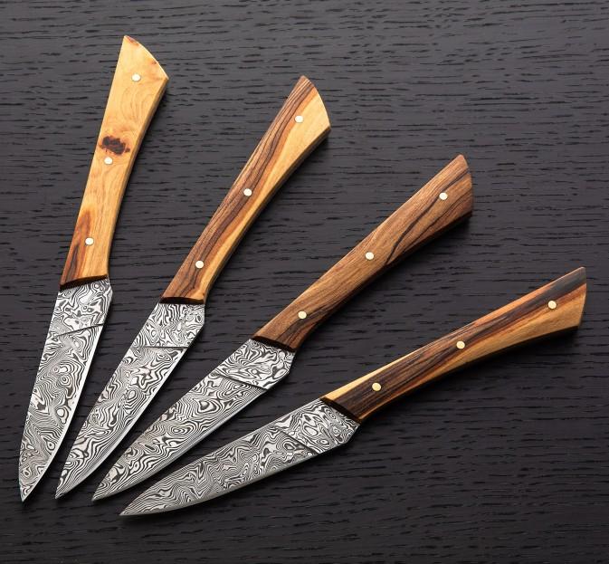 Apple Damasteel Steak Knives