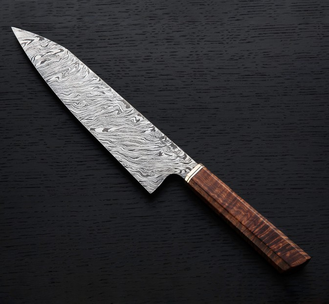 Ringed Gidgee Damascus Gyuto 235mm