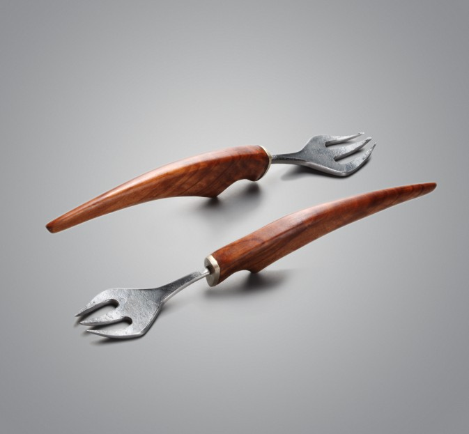 Maple & Forged Steel Forks