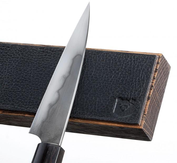 Leather & Oak Magnetic Knife Rack