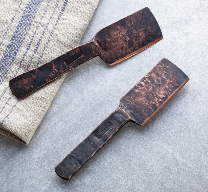 Hand-Forged Copper Cheese Knife