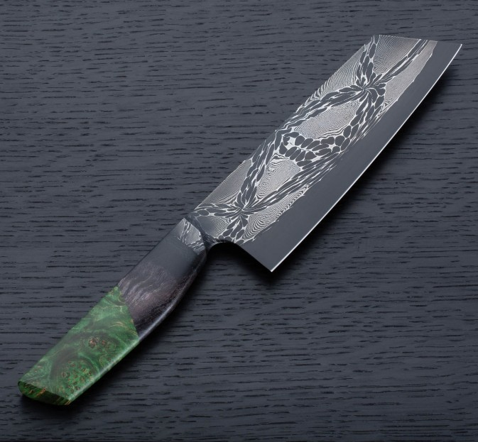 Green Maple Mosaic Santoku 178mm