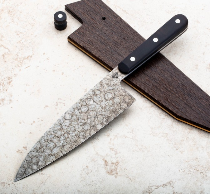 Rosewood Raindrop Chef 190mm