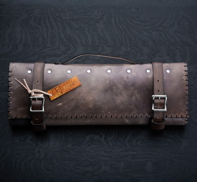 Granite Leather Knife Roll