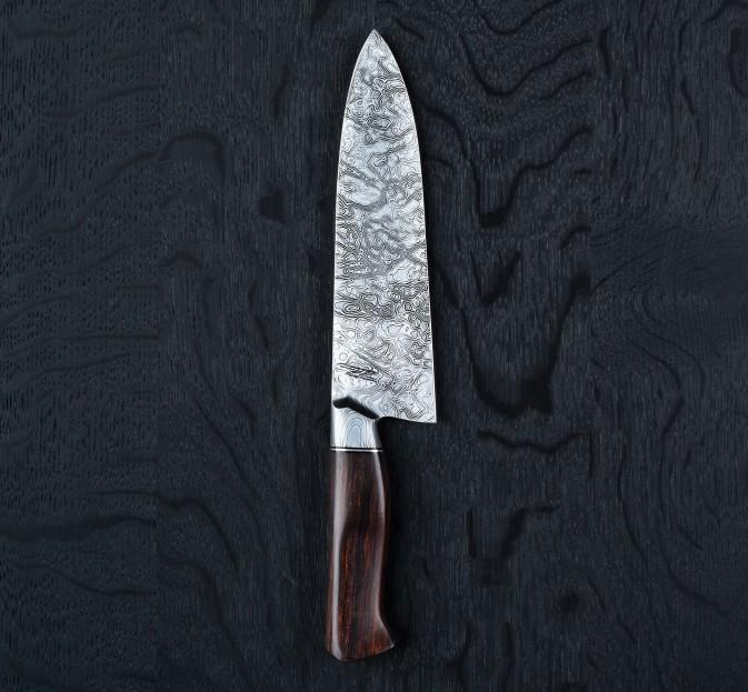 Ironwood Damascus Chef 185mm
