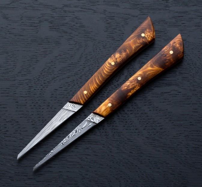 Swiss Cheese Damasteel Knife Set