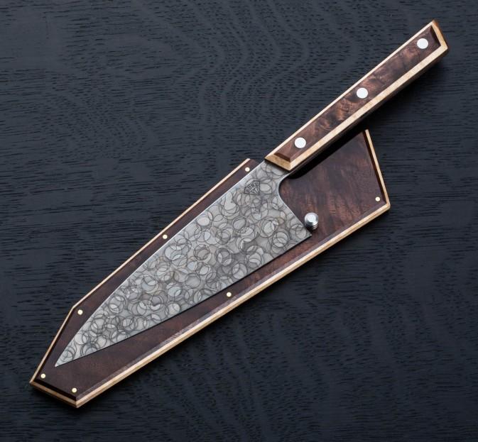 Walnut Raindrop Petty 165mm