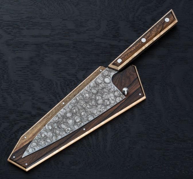Ziricote Raindrop Petty 165mm
