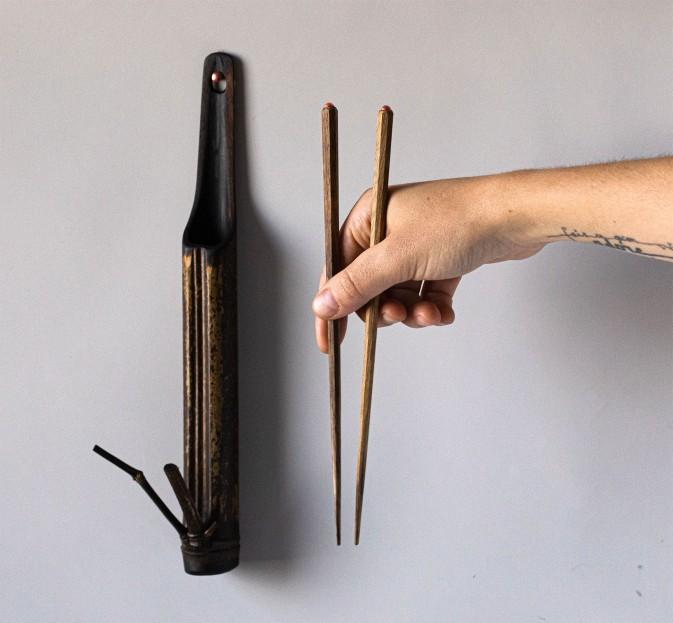 Persimmon & Bamboo Chopsticks Set