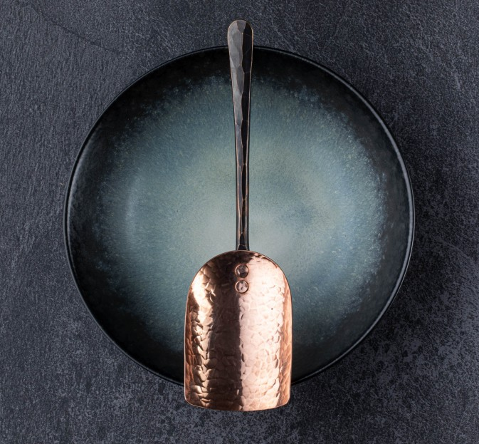 Copper & Bronze Grain Scoop