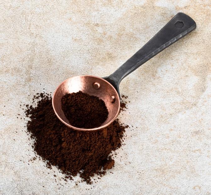 Copper & Steel Coffee Scoop