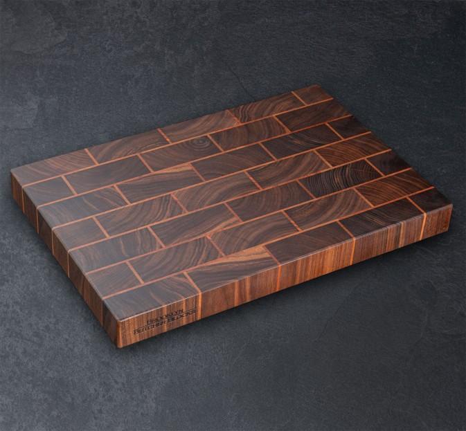 Brickwork End Grain Cutting Board