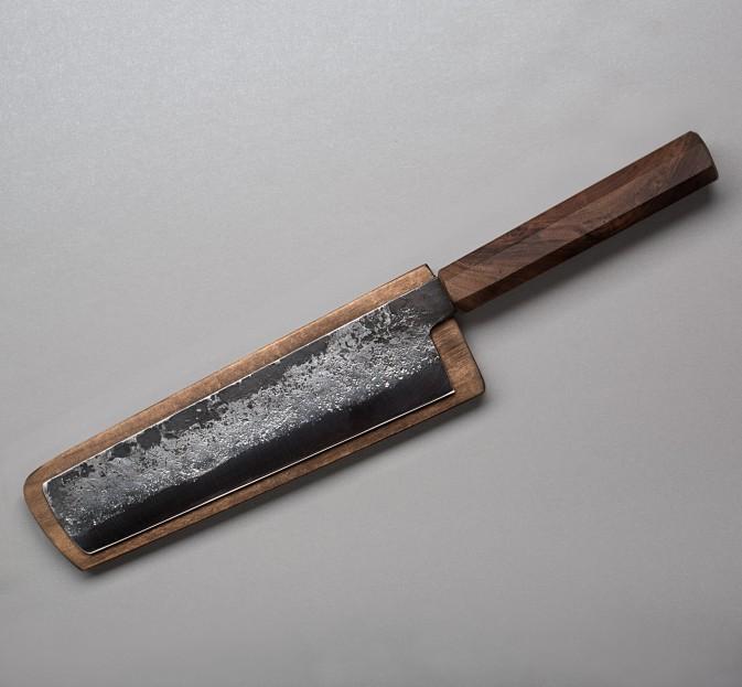 Walnut Nakiri 170mm