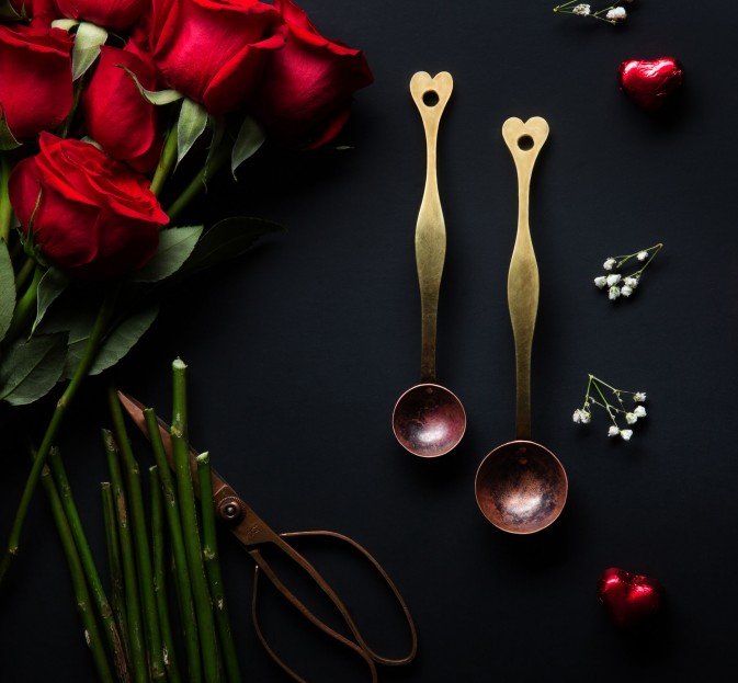 Heart Copper & Brass Spoons