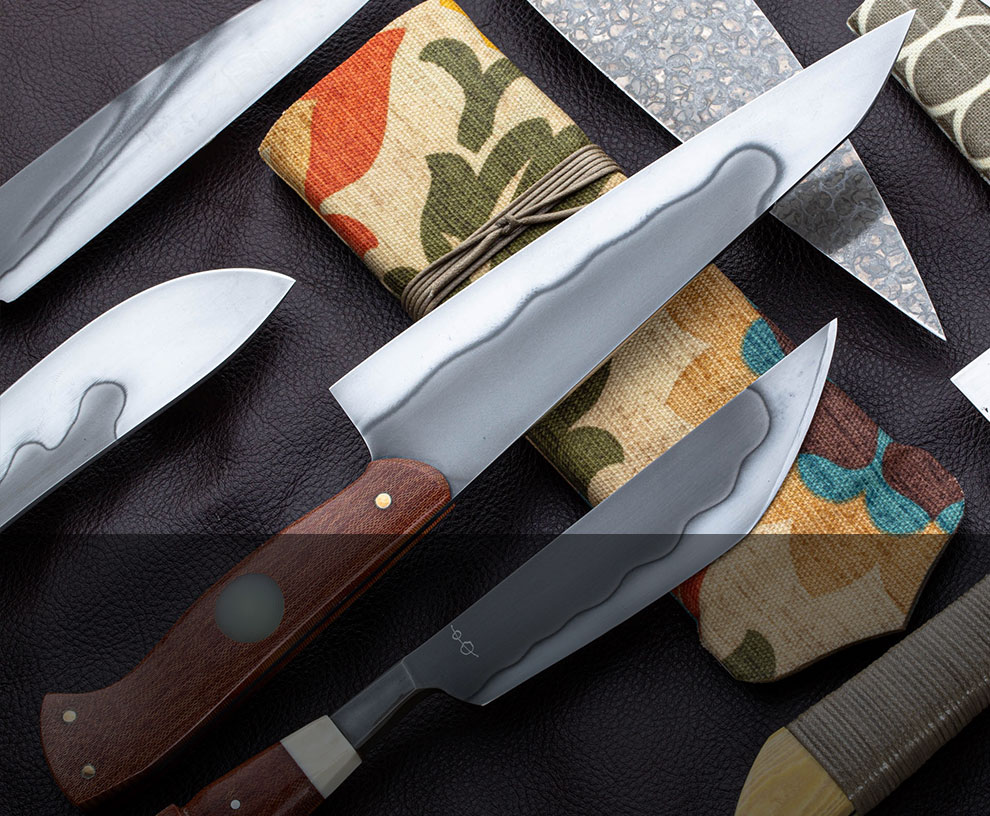 Shop a hand-picked selection of custom chef knives, cookware, kitchen utesnils, and more.
