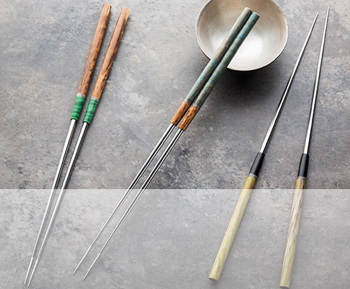 Handmade Moribashi Chopsticks for plating, garnishing and serving, by Isaiah Schroeder