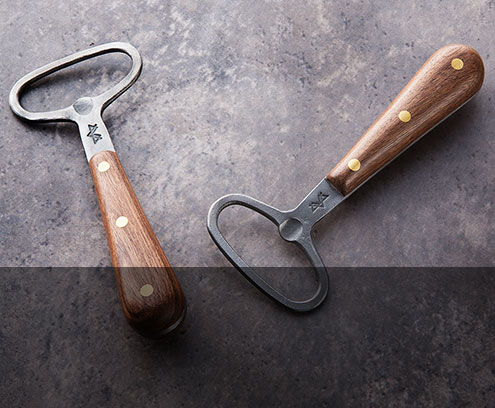 Premium Forged Bottle Opener handmade by Blanc Creatives in Walnut and Maple. $95.