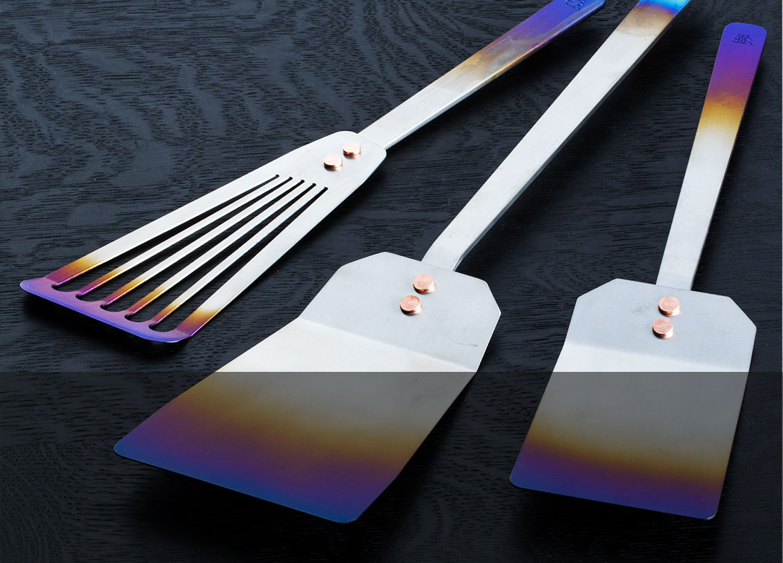 Titanium Fish, Grill & Kitchen Spatulas hand-crafted in Oregon by Ben Tendick.