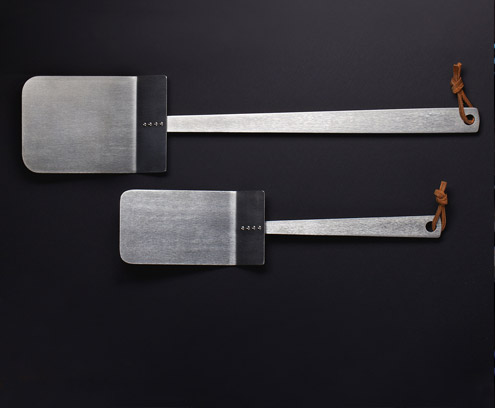 Handmade titanium spatulas for kitchen & grill by Mike Draper