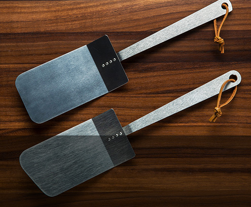 Titanium spatulas handmade by Mike Draper are strong, thin and flexible, perfect for any application.