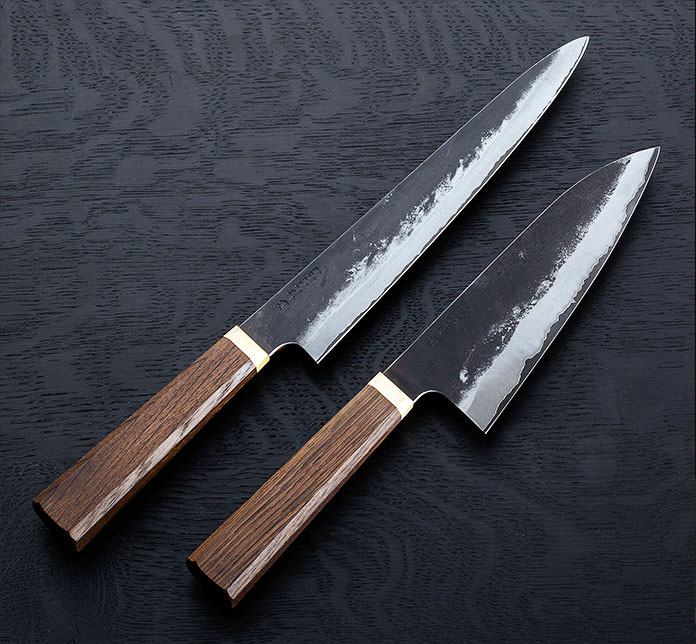 Blenheim Forge sam-mai chef knives, made in London, England.